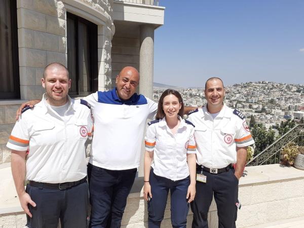 """עיסא דהאמשה נפגש לראשונה עם צוות מד""""א שטיפל בו לפני 3 שנים כשנפצע קשה"""