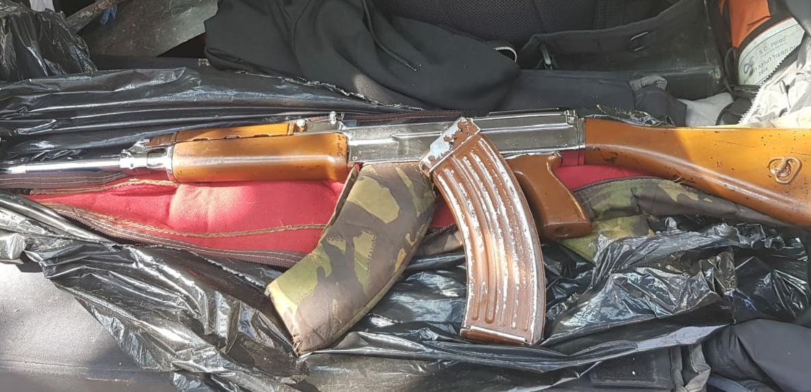 רובה שנתפס על ידי המשטרה במחוז צפון