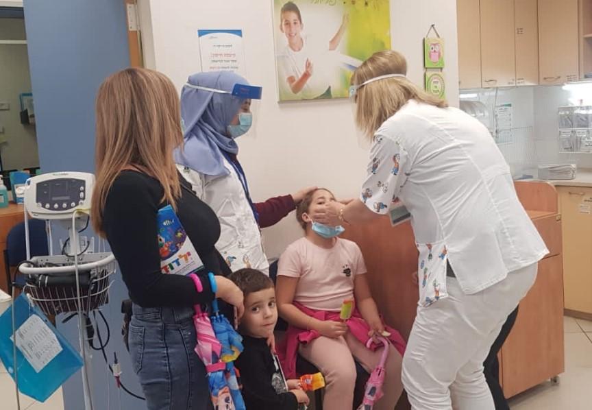 המרכז לבריאות הילד של כללית בקריון ממוקם במקום הראשון בארץ במדדי איכות ברפואת הילדים 100 בטיפול בילדים