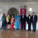 """דיפלומטיה בימי הקורונה: שגרירי נפאל ושוודיה הגיעו לביקור ברמב""""ם"""