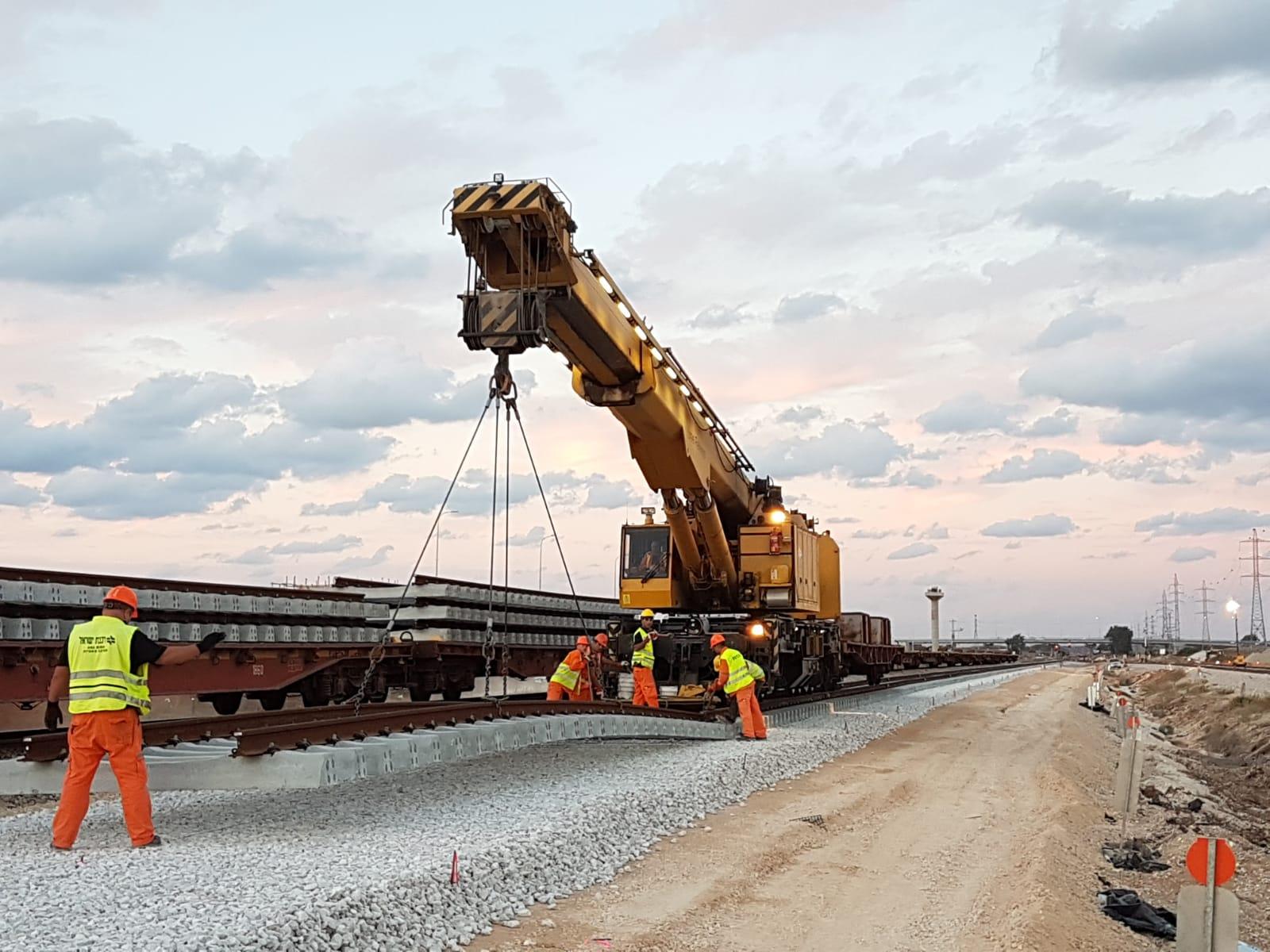 עבודות תשתית ברכבת ישראל קרדיט רכבת ישראל