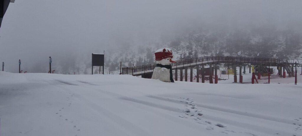 שלג בחרמון ינואר 2021