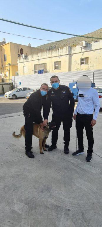 שוטרי משטרת ישראל הפועלים במג'ד אל כרום החזירו לבעלים את הכלב שנגנב ממנו היום.