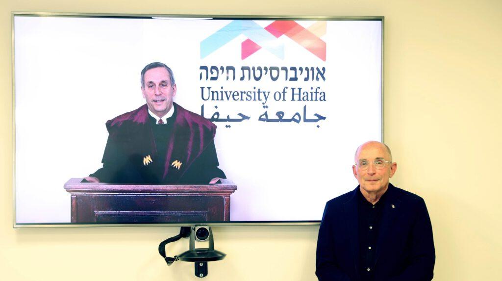 אוניברסיטת חיפה העניקה תואר לשם כבוד לנשיא אוניברסיטת הרווארד – פרופ' לורנס בקאו