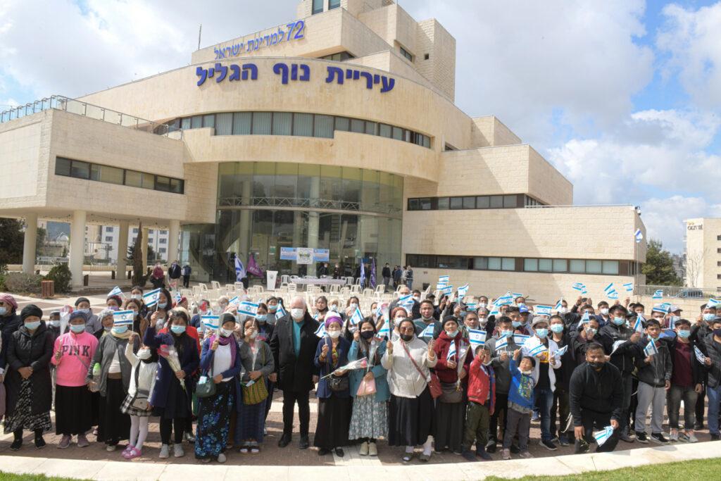 253 עולי בני המנשה נכנסו השבוע לביתם החדש בנוף הגליל