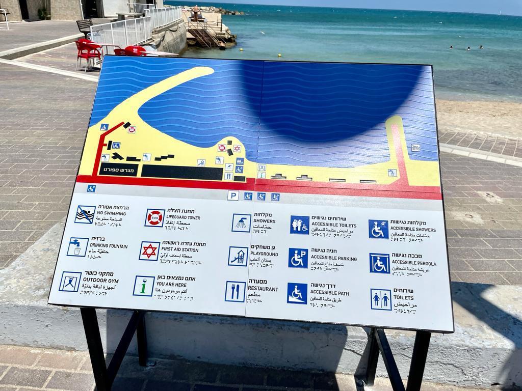 הנגשת חופים בחיפה