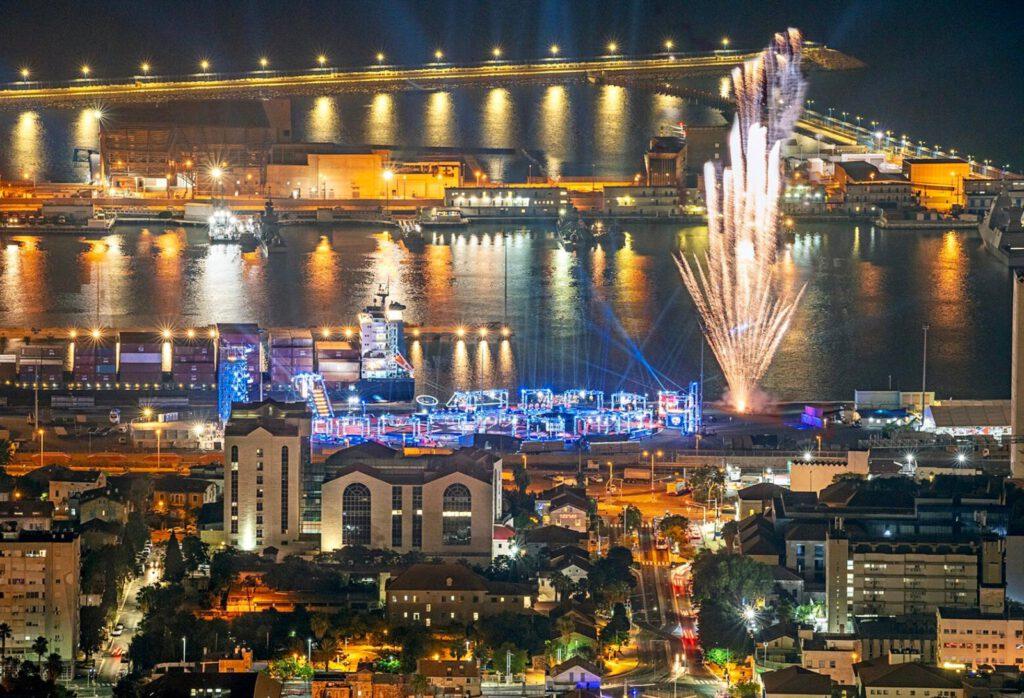 בנמל חיפה התחילו הצילומים של העונה הרביעית של נינג׳ה ישראל.