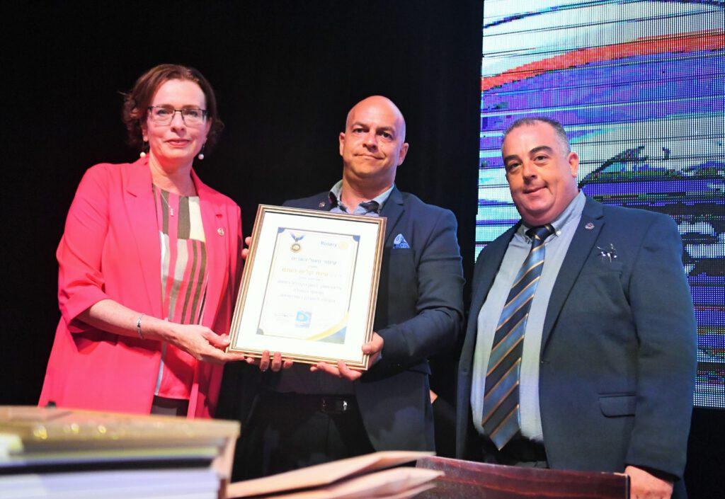 ראש עיריית חיפה זכתה באות פול האריס היוקרתי
